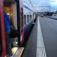 Photo taken at Bahnhof Zürich Tiefenbrunnen by Vincenzo on 9/9/2013