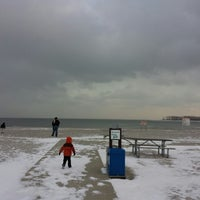 Photo taken at Silver Sands State Park Boardwalk by Aron on 1/26/2014