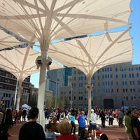 Photo taken at Sundance Square by Sid A. on 11/2/2013