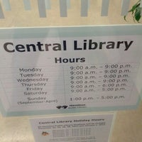 Photo taken at Central Branch Hamilton Public Library by TheAinzlee on 12/8/2012