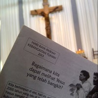 Photo taken at Gereja Katolik Regina Caeli by JoLLy P. on 3/31/2013