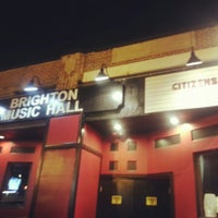 Photo taken at Brighton Music Hall by Van N. on 3/6/2013
