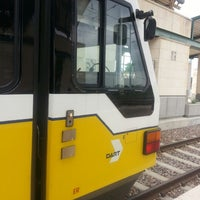 Photo taken at Downtown Garland Station (DART Rail) by Chad R. on 5/16/2013