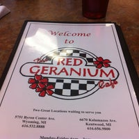 Photo taken at Red Geranium Cafe by Jonathan on 10/10/2012