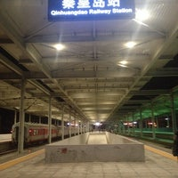 Photo taken at 秦皇岛站 Qinhuangdao Railway Station by Michelle C. on 10/14/2013
