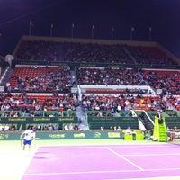 Photo taken at Khalifa International Tennis & Squash Complex by Mohsin K. on 1/4/2013