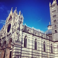 Photo taken at Duomo di Siena by Olga L. on 1/25/2013