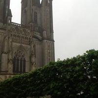 Photo taken at Cathédrale Notre-Dame de Coutances by Christophe A. on 10/19/2012