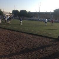 Photo taken at Cancha de Futbol de la Delegación Benito Juarez by Yadir R. on 12/2/2012
