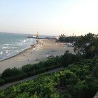 Photo taken at Южен плаж Бургас (South Beach) by Игорь П. on 8/18/2013