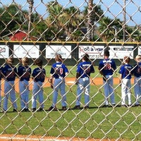 Photo taken at Buccaneer baseball field by Gg T. on 6/17/2013