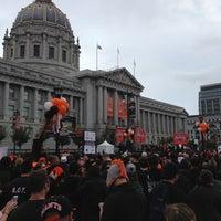 Photo taken at Civic Center Plaza by Baysics C. on 10/31/2012