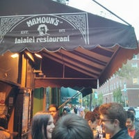 Photo taken at Mamoun's Falafel by steven t. on 5/18/2013