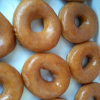 Photo taken at Krispy Kreme Doughnuts by Ty on 10/27/2012