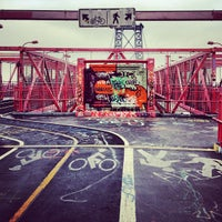 Photo taken at Williamsburg Bridge by Tamas N. on 12/8/2012