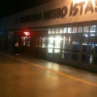 Photo taken at Yenibosna Metro İstasyonu by Erhan Ç. on 10/11/2012
