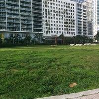 Photo taken at Miami Circle Park by Bonnie W. on 3/25/2015