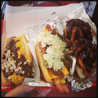 Photo taken at Pink's Hot Dogs by Derek N. on 6/18/2013