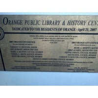 Photo taken at City Of Orange Public Library And History Center by Sam C. on 5/3/2013