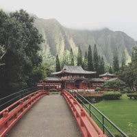 Photo taken at Byodo-In Temple by Ashley K. on 12/6/2012
