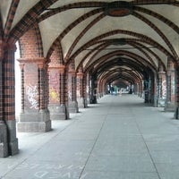 Photo taken at Oberbaumbrücke by Aleksandr M. on 10/9/2013