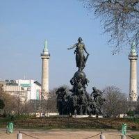 Photo taken at Place de la Nation by Nicolas C S. on 10/27/2012