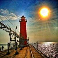 Photo taken at Grand Haven State Park by Chad W. on 5/22/2013