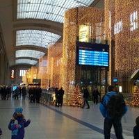 Photo taken at Leipzig Hauptbahnhof by Patrick M. on 12/1/2012