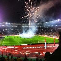 Photo taken at King Baudouin Stadium by Thomas S. on 10/15/2013