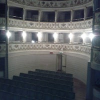 Photo taken at Teatro Accademico by Daniele S. on 9/8/2013