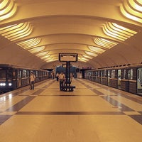 Photo taken at metro Ulitsa Akademika Yangelya by Fоursquаrе по-русски on 10/31/2012
