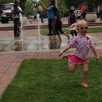 Photo taken at Town Square Fountain by Veronica C. on 5/24/2015