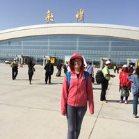 Photo taken at Dunhuang airport (DNH) by Samantha T. on 9/17/2014