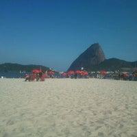 Photo taken at Praia do Flamengo by Dardan J. on 1/5/2013