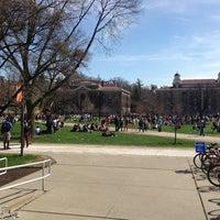 Photo taken at Syracuse University Quad by Mayuresh G. on 4/18/2013
