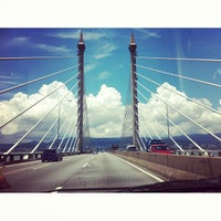 Photo taken at Penang Bridge by Yanni N. on 3/17/2013