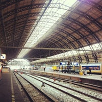 Photo taken at Amsterdam Centraal Railway Station by Caner G. on 5/10/2013