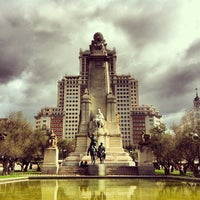 Photo taken at Spanish square by Caner G. on 4/2/2013
