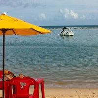 Photo taken at Praia Barra de São Miguel by Gustavo G. on 11/23/2012