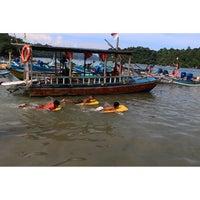 Photo taken at Pantai Sendang Biru by Muhamad F. on 4/26/2015