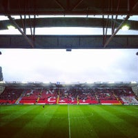 Photo taken at Sincil Bank Stadium-Lincoln City Football Club by Joel M. on 10/12/2013