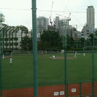 Photo taken at 青山運動場 野球場 by To M. on 5/25/2013