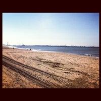 Photo taken at Playa de Fuentebravía by Julia d. on 10/28/2012