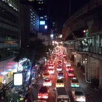 Photo taken at Sala Daeng Intersection by Warut B. on 8/18/2014