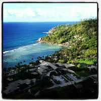 Photo taken at Kempinski Resort Seychelles by Ivan on 10/18/2013