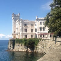 Photo taken at Castello di Miramare by Simone P. on 8/27/2013