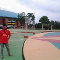 Photo taken at Jakabaring Aquatic Stadium by Dios P. on 12/31/2012