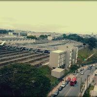 Photo taken at Estação Jabaquara (Metrô) by Thaís R. on 11/1/2012