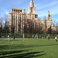 Photo taken at Футбольное поле МГУ by Marat I. on 10/27/2012