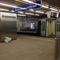 Photo taken at Metrostation Rotterdam Centraal by Maarten S. on 3/9/2013